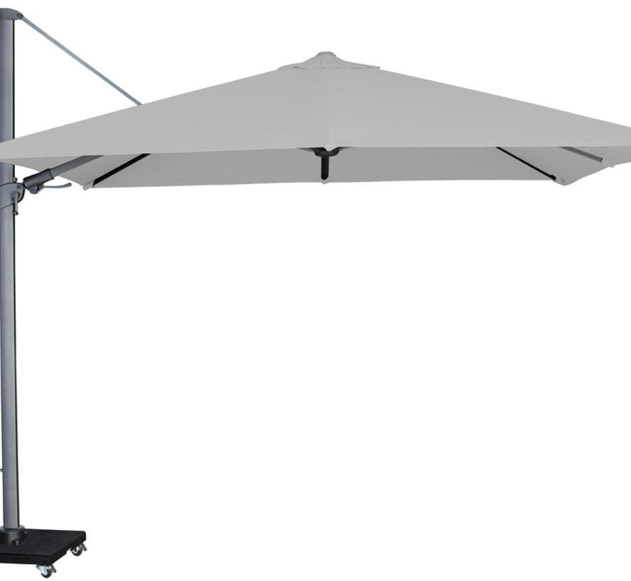 Malibu T2 zweefparasol 300x300 cm lichtgrijs