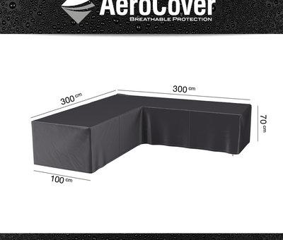 AVH-Collectie Manjavico hoek loungeset 4-delig zwart wicker