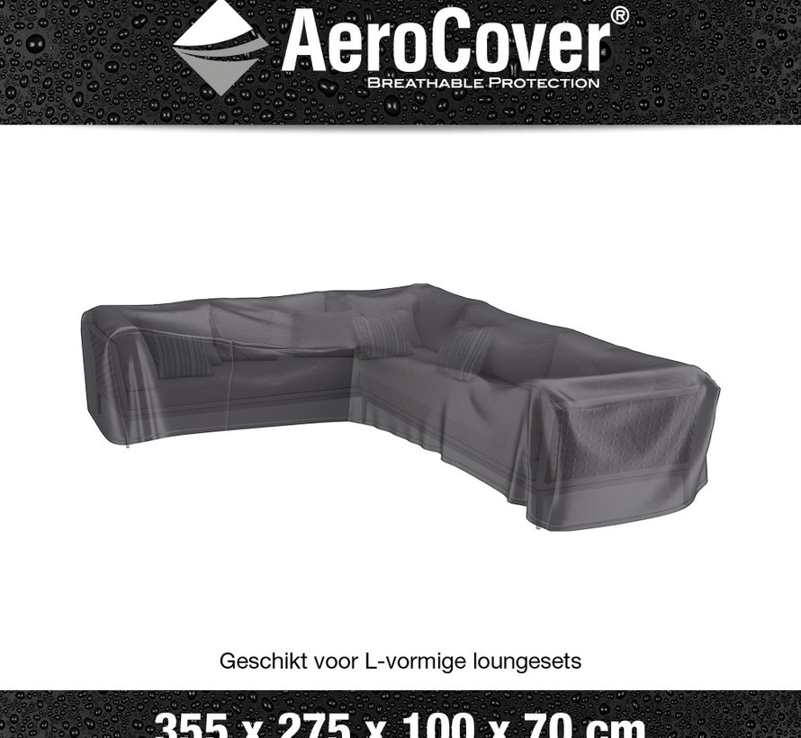 Loungesethoes 355x275x100xH70 cm links – AeroCover