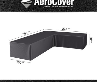 AVH-Collectie Fortaleza dining hoek loungeset 6 delig antraciet aluminium