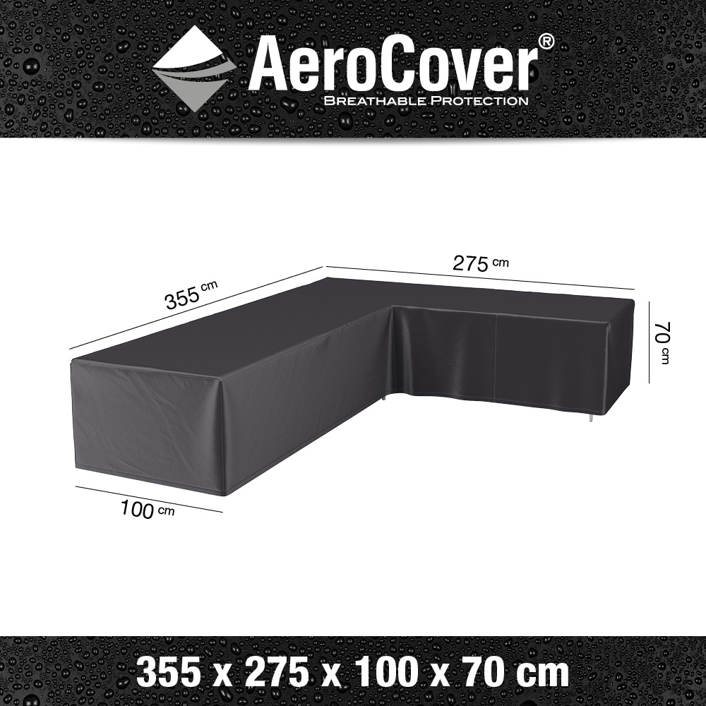 Loungesethoes 355x275x100xH70 cm rechts? AeroCover