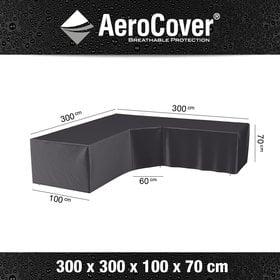 Aerocover Loungesethoes XL Trapezehoek 300x300x100xH70 cm L vorm – AeroCover