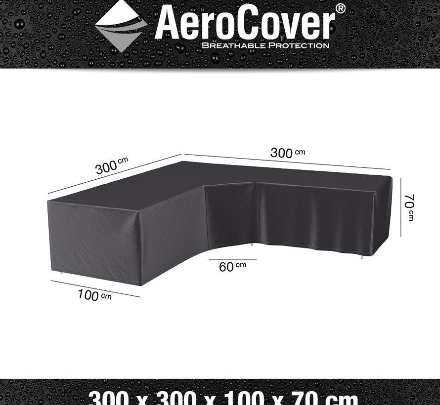 Loungesethoes XL Trapezehoek 300x300x100xH70 cm L vorm – AeroCover