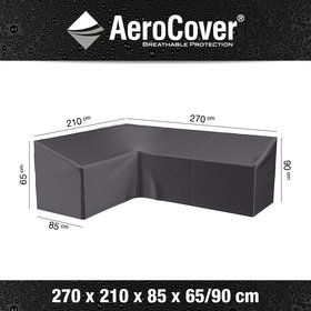 Aerocover Loungesethoes 270x210x85xH65-90 cm links – AeroCover