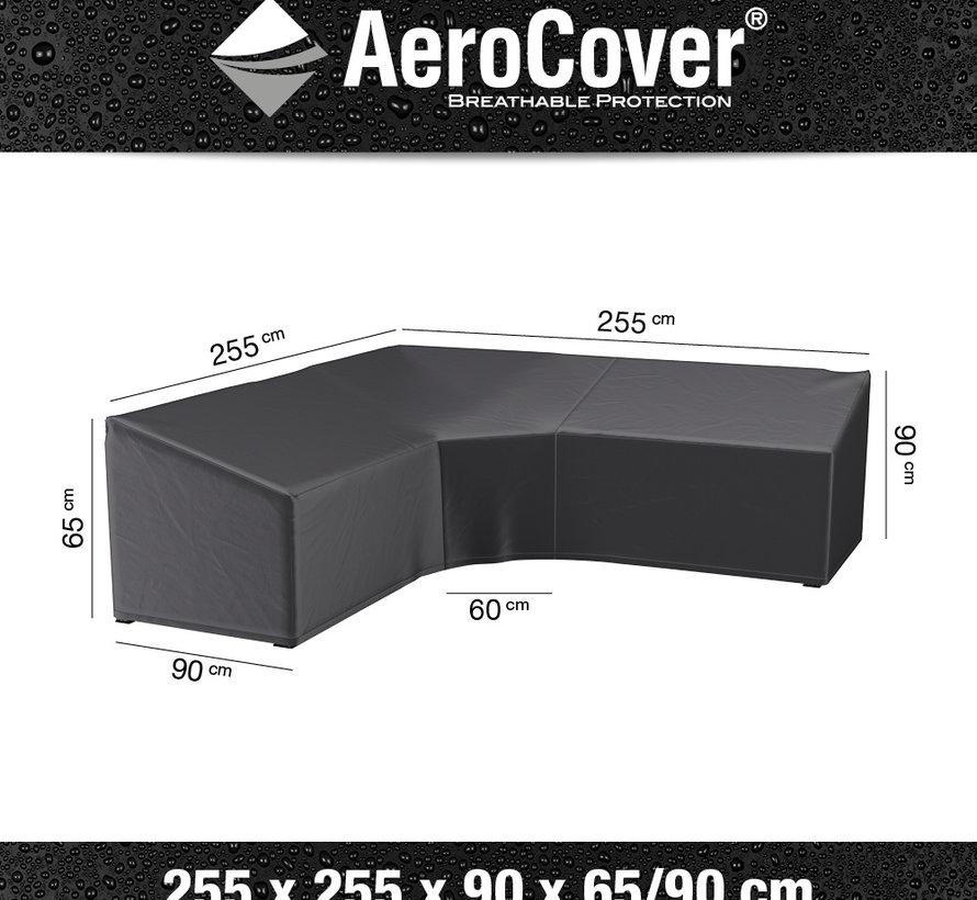 Loungesethoes XL Trapezehoek 255x255x90xH65-90 cm L vorm – AeroCover