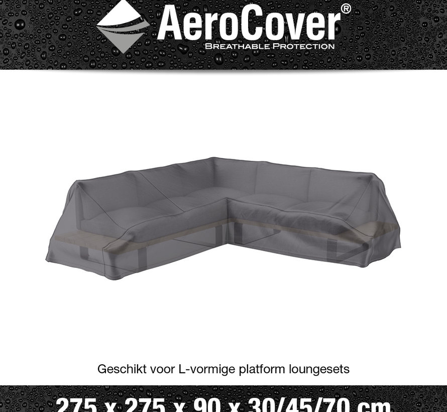 Platform loungesethoes 275x275x90xH30/45/70 cm – AeroCover