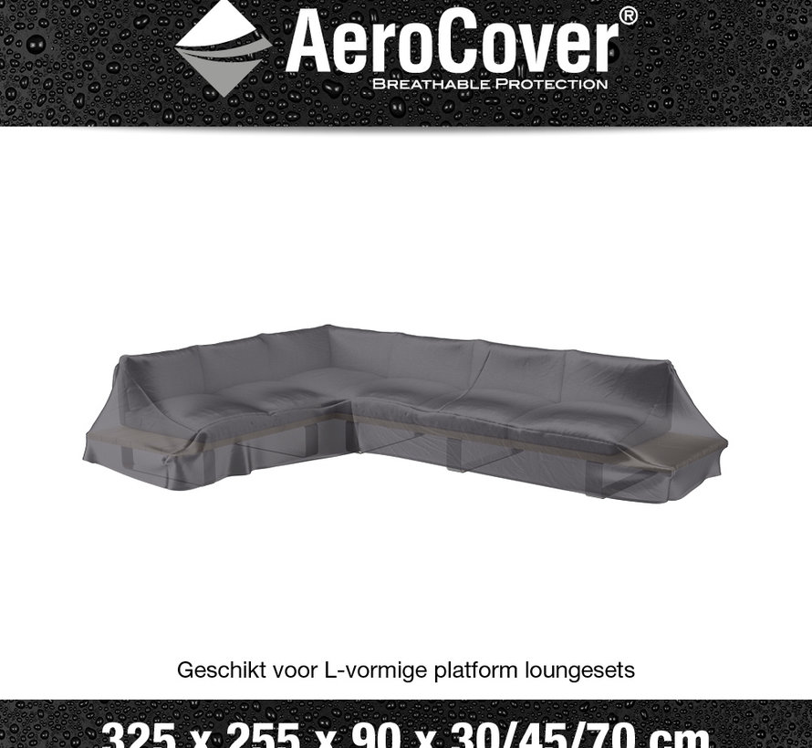 Platform loungesethoes 325x255x90xH30/45/70 cm Links – AeroCover