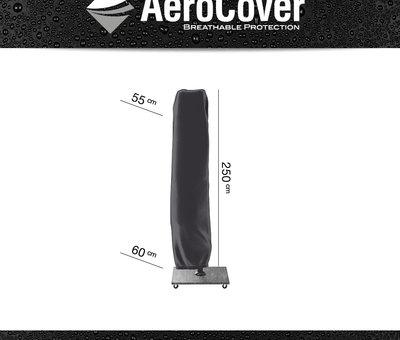 Platinum Challenger T2 premium zweefparasol 350x260 cm matt black mast jet black
