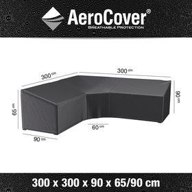 Aerocover Loungesethoes XL Trapezehoek 300x300x90xH65-90 cm – AeroCover