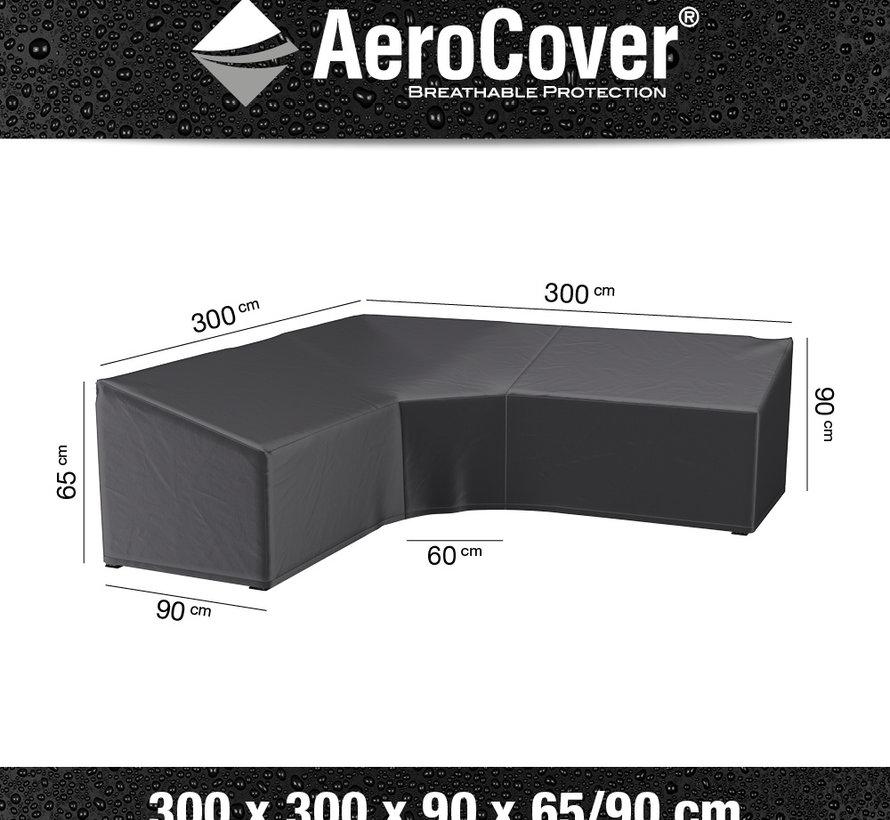 Loungesethoes XL Trapezehoek 300x300x90xH65-90 cm – AeroCover