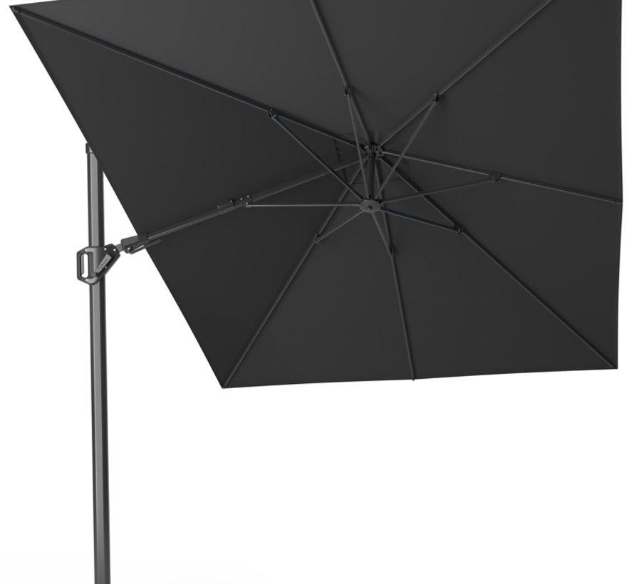 Challenger T2 premium zweefparasol 350x260 cm faded black