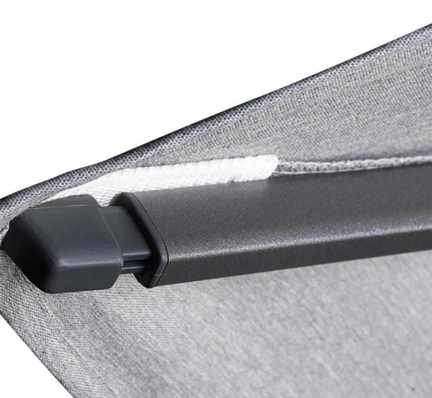 Challenger T2 premium zweefparasol 350x260 cm havanna
