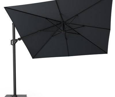 Platinum Challenger T2 premium zweefparasol 300x300 cm matt black mast jet black