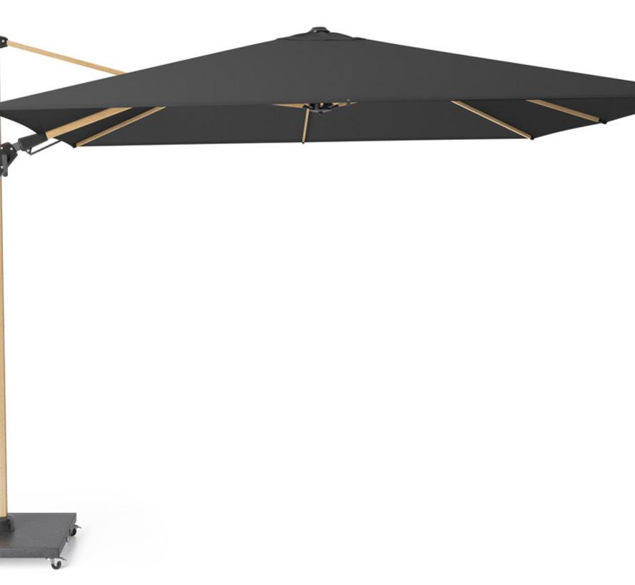 Challenger T2 premium zweefparasol 300x300 cm oak mast faded black