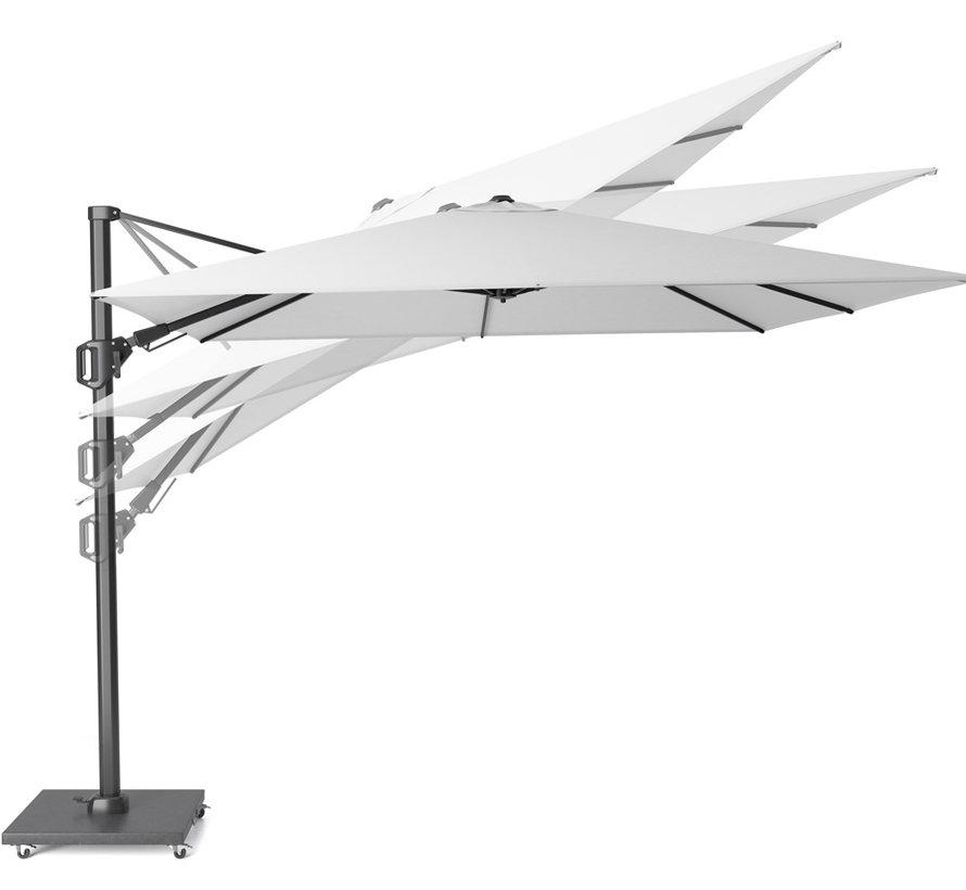 Challenger T2 zweefparasol 350x260 cm lichtgrijs