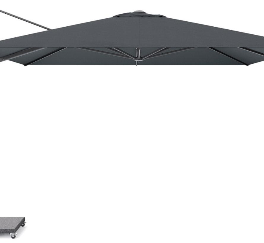 Challenger T1 premium zweefparasol 350x350 cm faded black