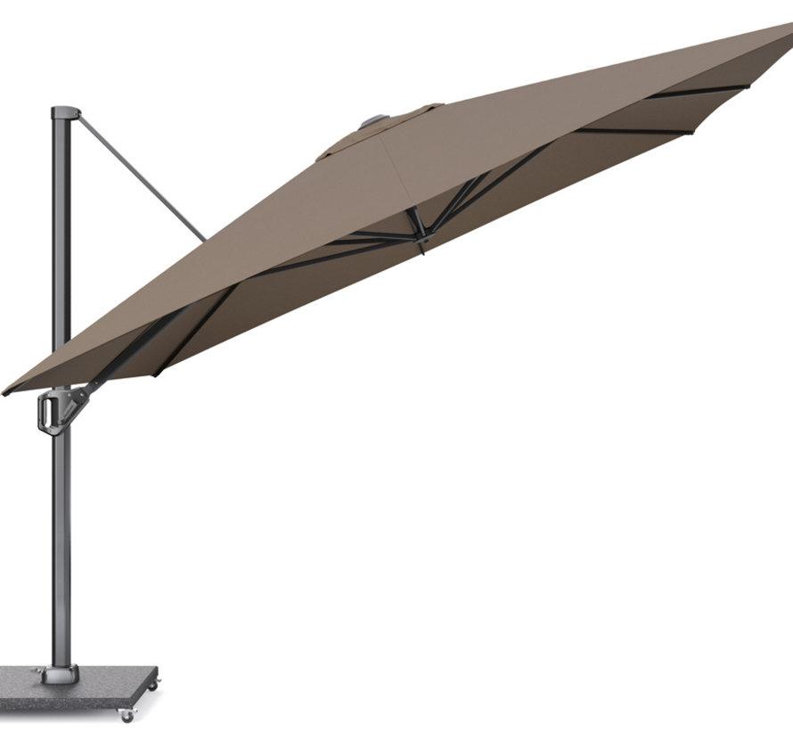 Challenger T1 premium zweefparasol 350x350 cm havanna