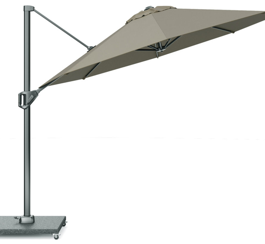 Voyager T1 zweefparasol 300 cm rond taupe