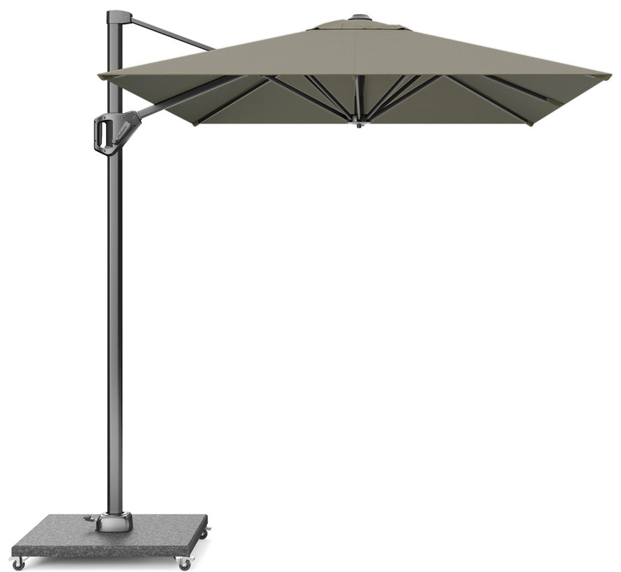 Voyager T1 zweefparasol 300x200 cm taupe