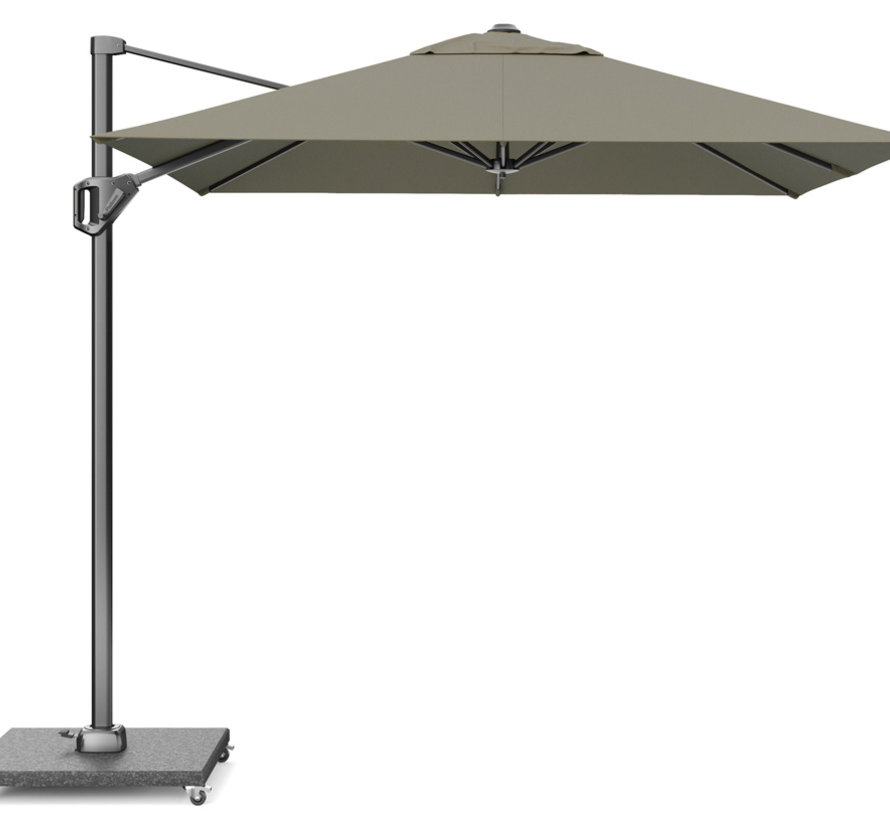 Voyager T1 zweefparasol 250x250 cm taupe