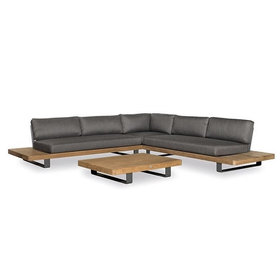 AVH-Collectie New York hoek loungeset 4-delig teak