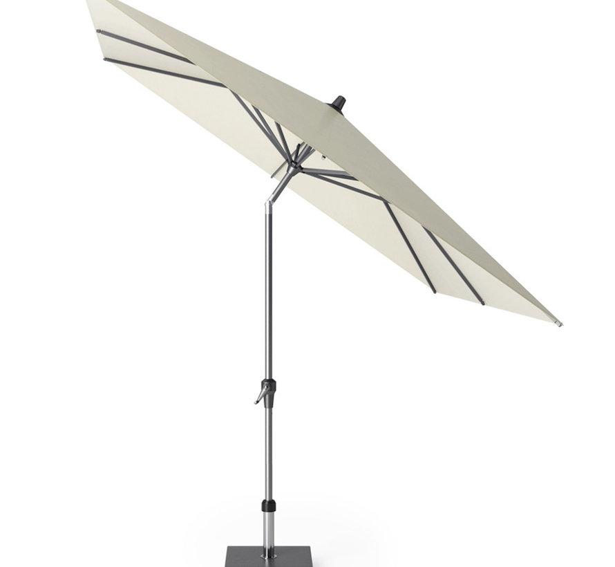 Riva parasol 250x250 cm ecru met kniksysteem