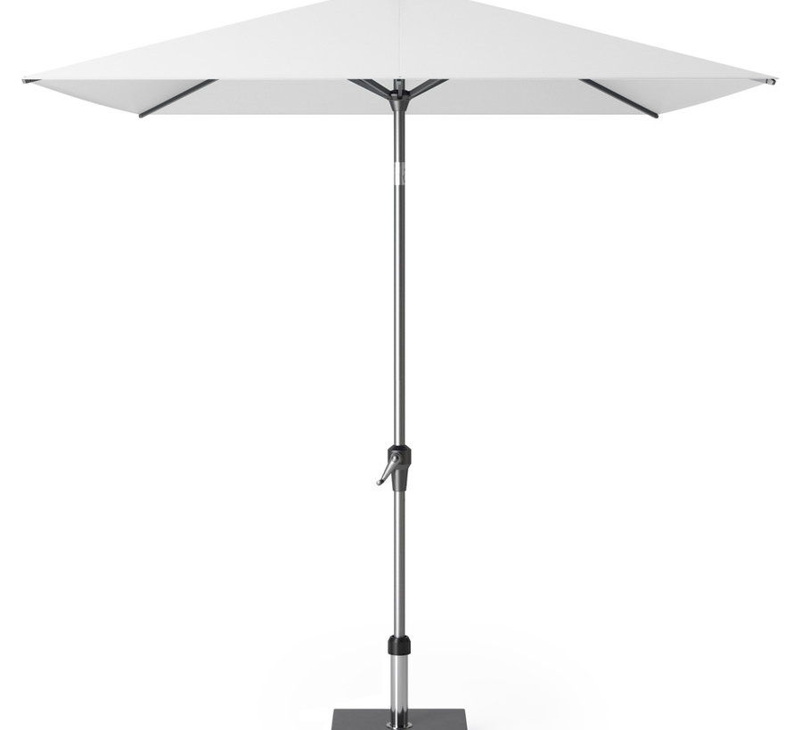Riva parasol 250x200 cm wit met kniksysteem