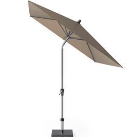 Platinum Riva parasol 250x200 cm taupe met kniksysteem