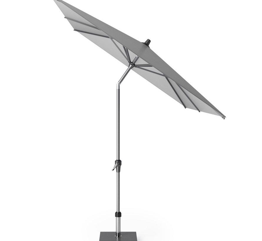 Riva parasol 250x200 cm lichtgrijs met kniksysteem
