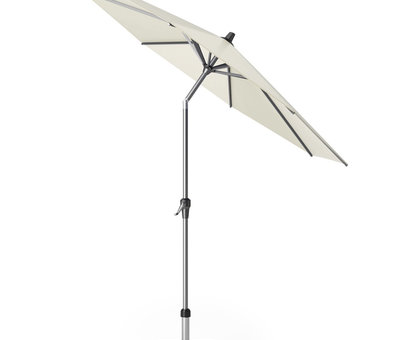 Platinum Riva parasol 270 cm rond ecru met kniksysteem