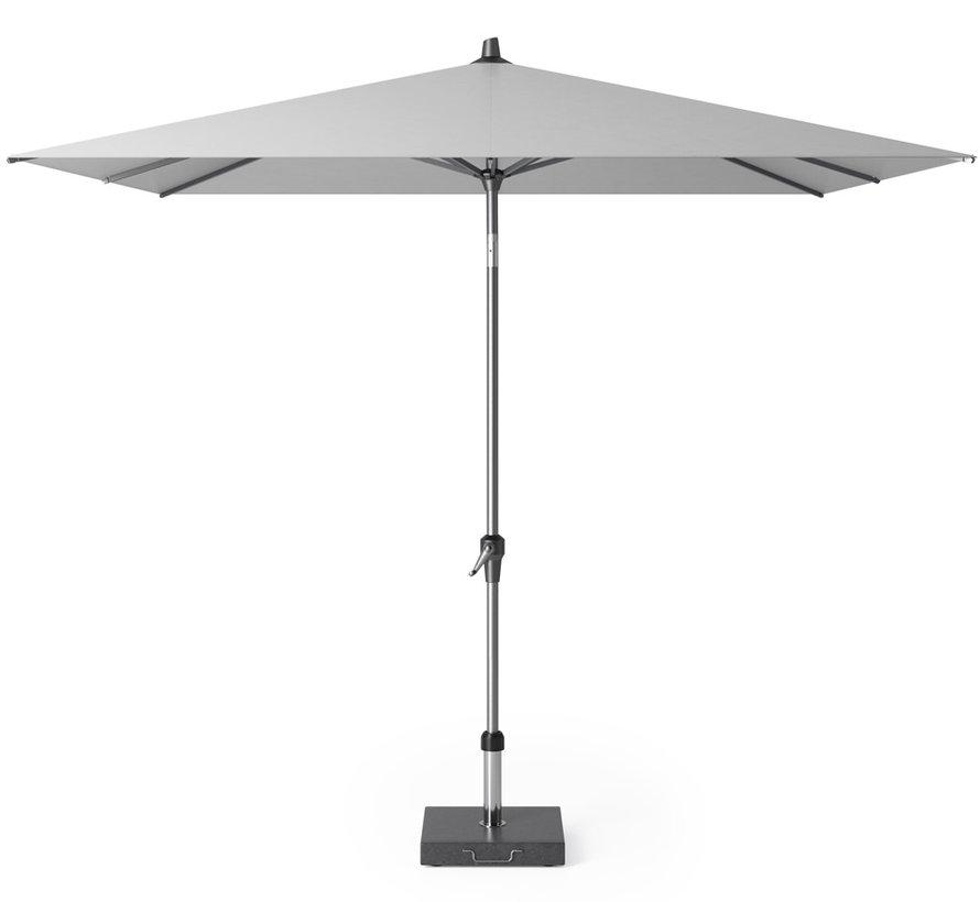 Riva parasol 250x250 cm lichtgrijs met kniksysteem