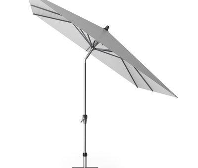 Platinum Riva parasol 250x250 cm lichtgrijs met kniksysteem