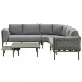 Garden Impressions Nina hoek loungeset 5 delig groen aluminium