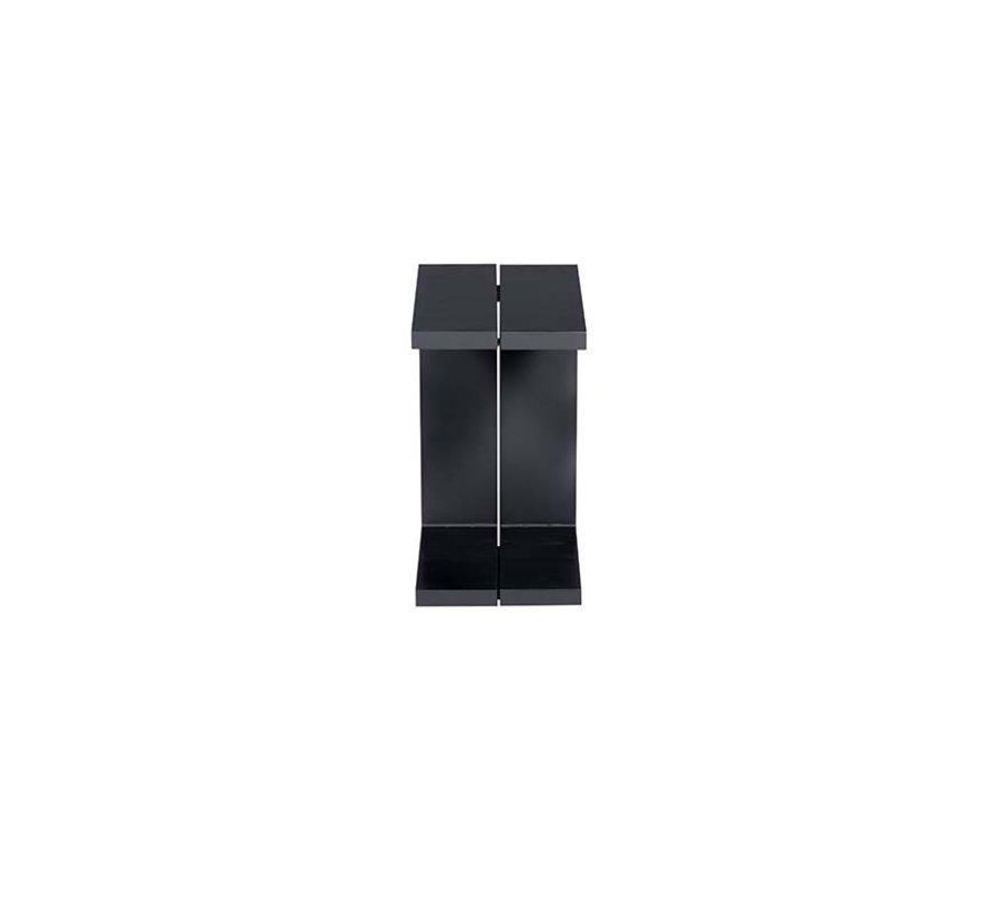 Cube bijzettafel 48,2x28,6xH53 cm antraciet