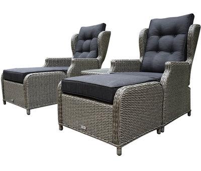 AVH-Collectie Toscane XL lounge balkonset verstelbaar 5-delig grijs