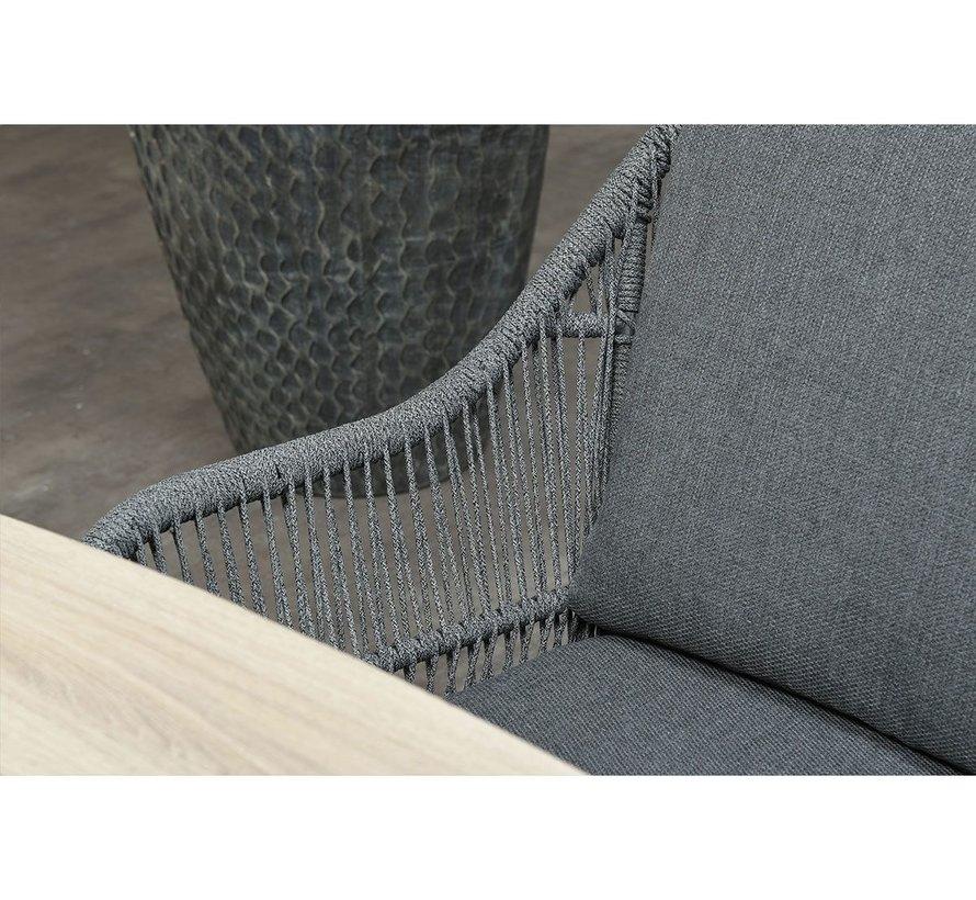 Triton dining tuinstoel rope grijs