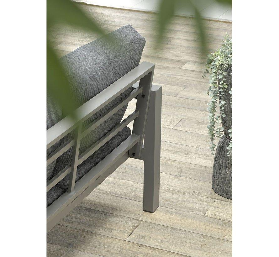Zion stoel bank loungeset 4 delig grijs aluminium