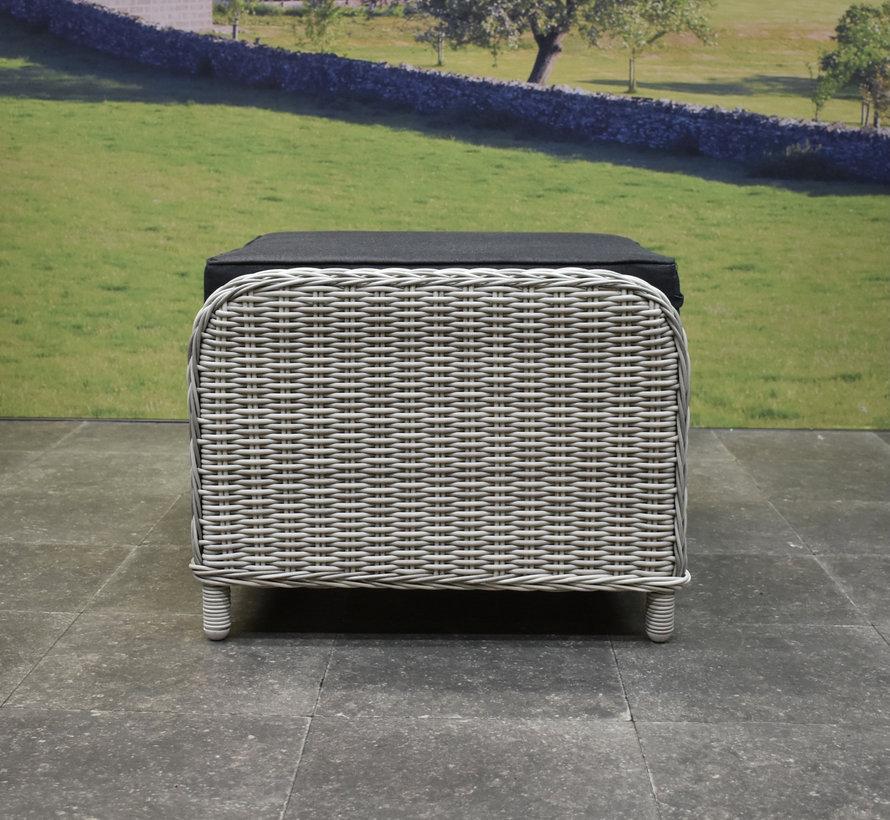 Toscane Bilbao voetenbank 60x74xH47 cm wit grijs