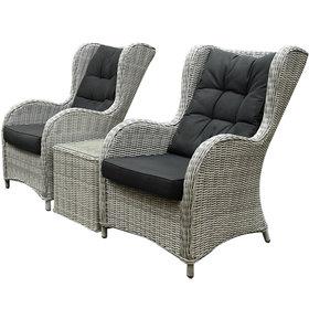AVH-Collectie Arezza lounge balkonset 3-delig wit grijs