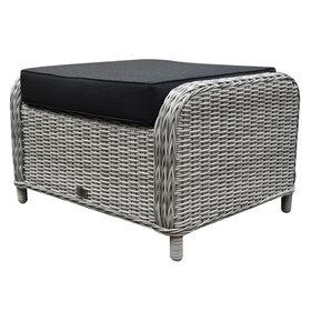 AVH-Collectie Toscane Bilbao voetenbank 60x74xH47 cm wit grijs