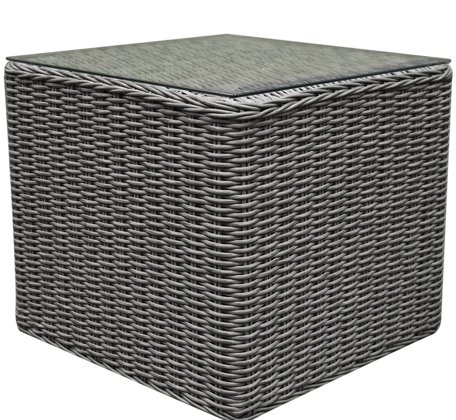 Toscane bijzettafel 50x50xH45 cm grijs