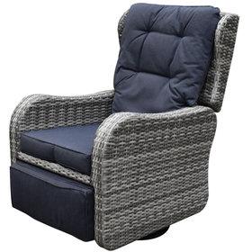 AVH-Collectie Jennifer lounge schommelstoel verstelbaar antraciet
