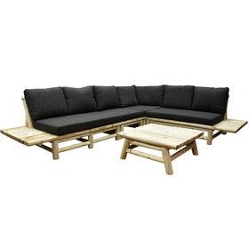 AVH-Collectie Piton hoek loungeset 5-delig teak