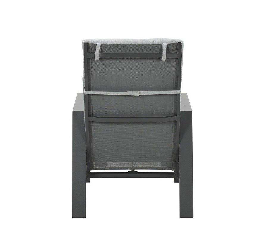 Max lounge balkonset 5 delig verstelbaar carbon black