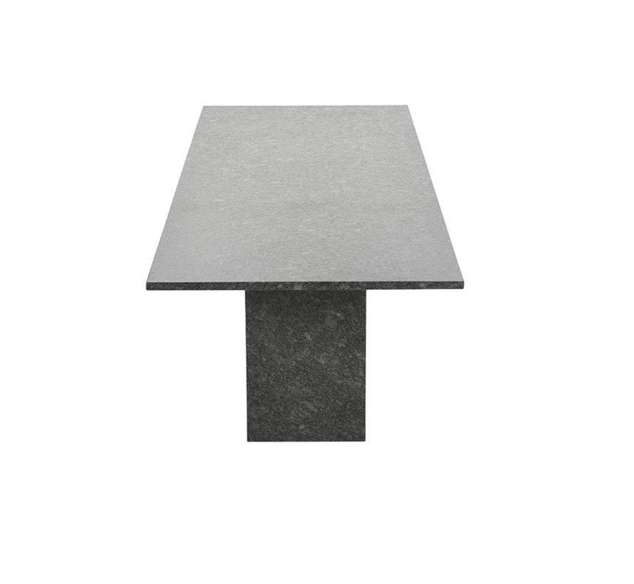 Viking dining tuintafel 240x100xH75 cm graniet pearl grey satinado