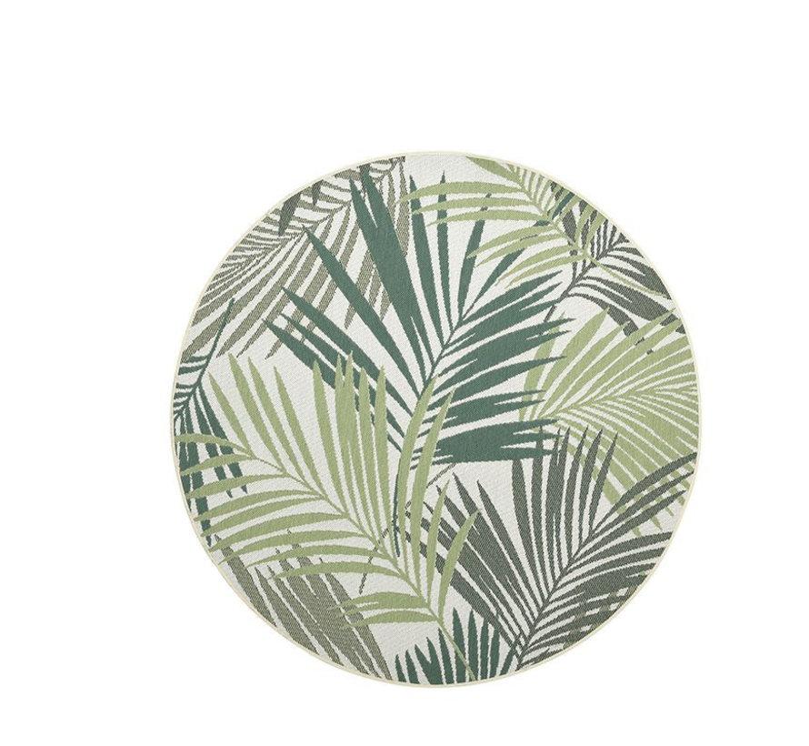 Naturalis buitenkleed 160 cm rond palm leaf