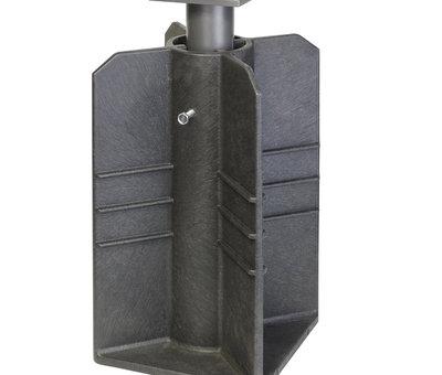 Platinum Icon zweefparasol 400x300 cm faded black