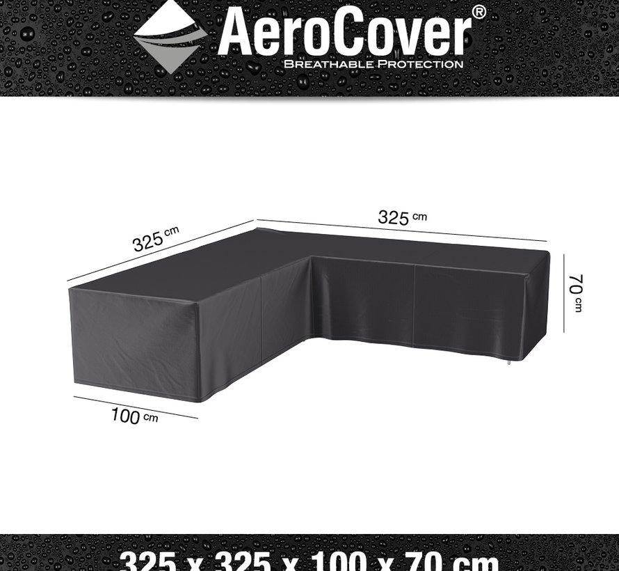 Loungesethoes 325x325x100xH70 cm L vorm - Aerocover