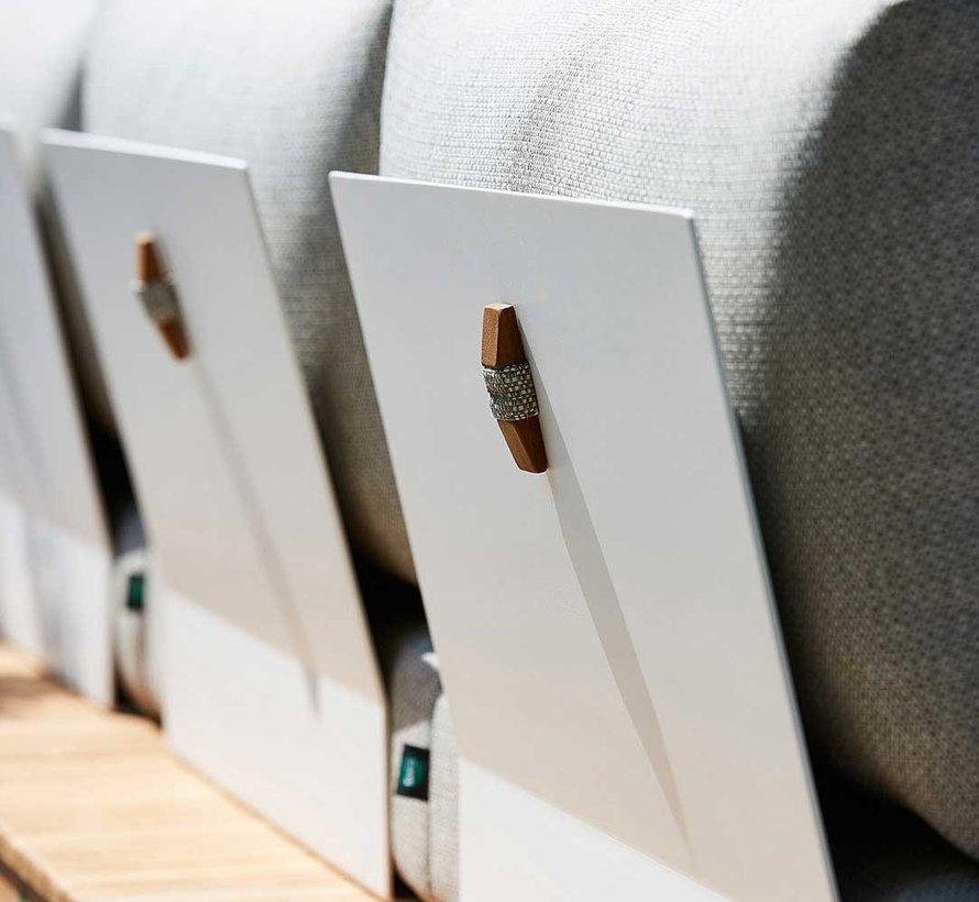 SUNS Portofino hoek loungeset 6 delig soft grey mixed weave
