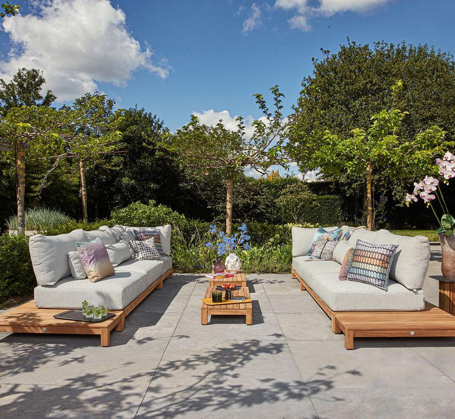 SUNS Portofino sofa loungeset 8 delig soft grey mixed weave